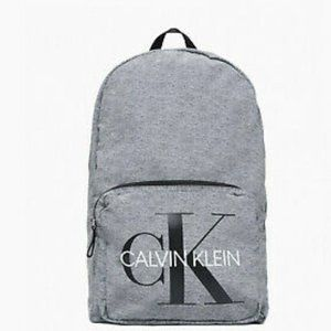 Calvin Klein Monogram Logo Ck Jersey Backpack Gray